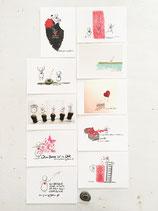 Postkarten-Set Mut, Sein, Herz Vol. 1
