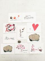 Postkarten-Set Mut, Sein, Herz Vol. 2