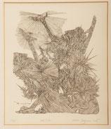 """Ernst Degasperi Etching """"Zum Licht"""""""