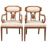 Pair of Swedish Karl Johan 'Biedermeier' Armchairs