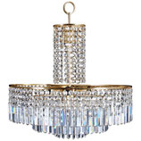 Beautiful Cut Crystal Chandelier by Bakalowits