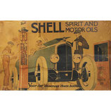 Vintage Poster Shell Motor Oil Gasoline by Rene Vincent from 1926