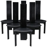 Set of Six Danish Ebonized Dining Chairs by Bob og Dries Van Den Bergh