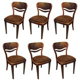 Set of six Thonet dining chairs