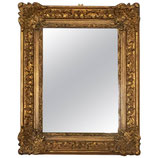 Early 20th Century Baroque Style Giltwood Carved Mirror