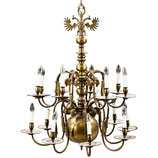 Huge Impressive Dutch Baroque Chandelier