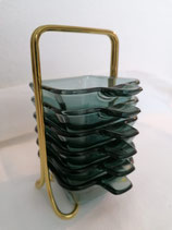 Set of Six Stacking Ashtrays by Wilhelm Wagenfeld for WMF