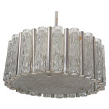 Midcentury Ice Glass Chandelier by Kaiser Leuchten