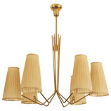 Huge Midcentury Brass Chandelier by J.T. Kalmar