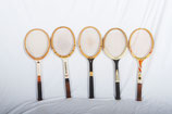 Set of Five Vintage Tennis Rackets