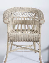 Rare Vienna Secession Wicker Armchairs by Hans Vollmer For Prag-Rudniker