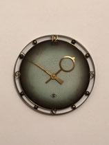 German TN Telenorma Brass Wall Clock