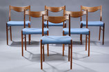 Set of Six Arne Wahl Iversen Dining Chairs, Model GS61