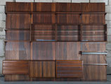 Rosewood Shelving System Wall Unit by Poul Cadovius