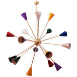 Colorful Sputnik Chandelier in the Style of Stilnovo