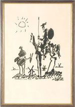 After Pablo Picasso - Don Quixote - Lithography