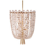 Unique Cut Crystal Rondino Chandelier by J.T. Kalmar