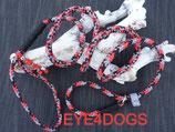 Hondensliplijn Red Camo 8mm