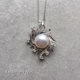 Collier perle d'eau douce blanche de venus