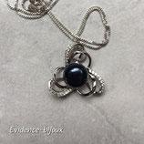 Collier perle d'eau douce noir