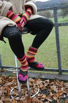 Socken mit getrennt gestricktem Zeh