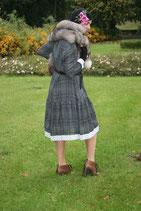 Kleid mit Gurte Gr-40-42. Unikat