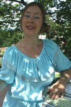 Kleid aus leichtem Viskose/Baumwolle Mischgewebe. Geeignet als sommer Cocktailkleid.
