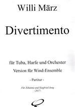 Divertimento für Tuba, Harfe und Orchester (Wind)