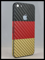 Deutschland Folie -Schwarz-Rot-Gold- Carbon