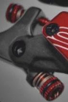 Einstellschrauben für den Druckpunkt des Kupplungs-/Bremshebels