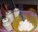 Сметана из сливок сепарированных из козьего молока