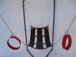 Sling 3-teilig schwarz/rot komplett incl. Ketten