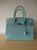 Hellblauer Cityshopper im Birkin Bag Style