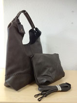 Hobo Shoulder Bag Grau