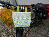 Lenkertasche für den Fahrradlenker Blätter grün