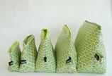 Kosmetiktäschchen Art Deco Pfauen grün in verschiedenen Größen