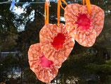 Wendesattelbezug orange mit rosa Blumen