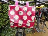 Lenkertasche für Fahrräder Pink mit Hund