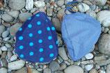Wendesattelmütze Blau mit Blümchen