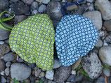 Sattelmütze in Blau und Grün
