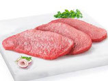Schnitzel Fleisch geschnitten