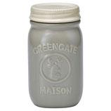 Jar Maison warm grey H:15cm,klein