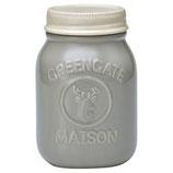 Jar Maison warm grey H:19cm,gross