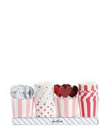Cupcakeförmchen Set red, Miss Étoile