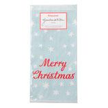 Geschenktüten Merry Christmas,mint mit roter Schrift,krima&isa