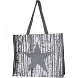 Einkaufstasche Kunststoff grau mit Stern