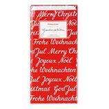 Geschenktüten Weihnachten rot,mit Schrift,krima&isa
