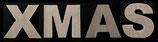 Holzbuchstaben XMAS