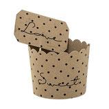 Paper Muffin Cups, Craft w/Black