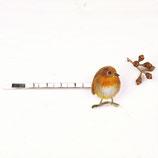 Rotkehlchen Haarnadel, Zeichnung Rotkehlchen, Rotkehlchen, Haarspange, Vogelschmuck